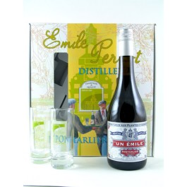 Un Emile Set with Glases 45% 70cl