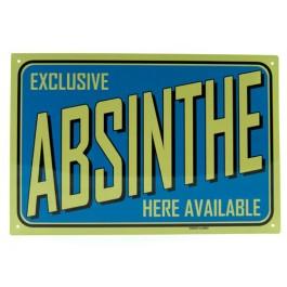 Blechschild Absinthe blau