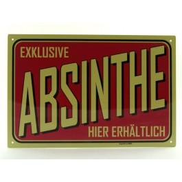 Blechschild Absinth rot