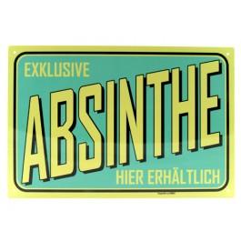 Blechschild Absinth türkis