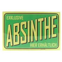 Blechschild Absinth grün